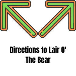 google maps directions to Lair O' the Bear park