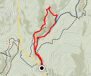 maxwell falls upper trail map/route