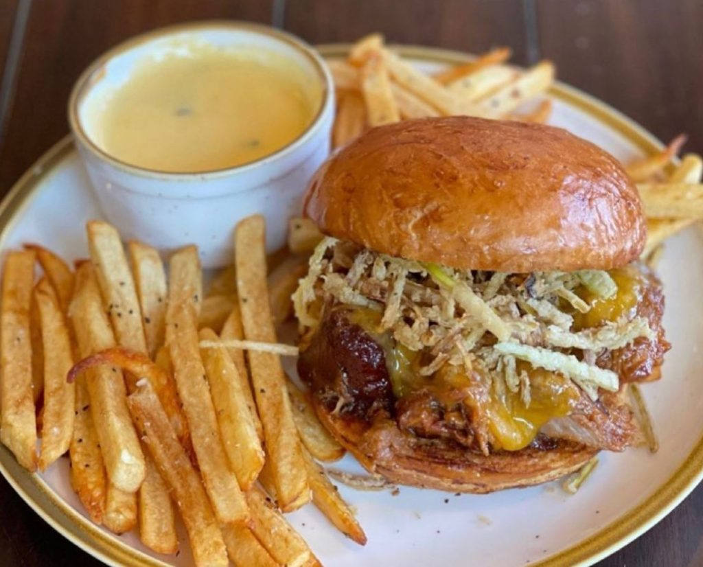Top Places to Eat Near Our Evergreen Colorado Cabins - El Rancho Brewing Company Pulled Pork Sandwich
