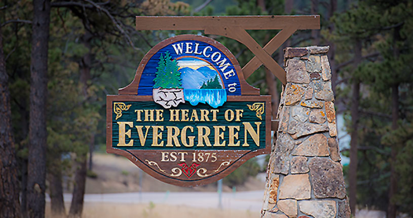 the heart of evergreen
